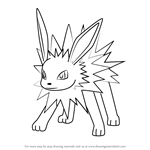 How to Draw Jolteon from Pokemon GO