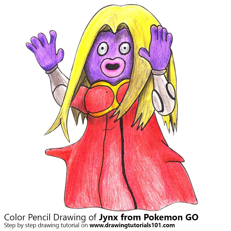 Jynx from Pokemon GO Color Pencil Drawing