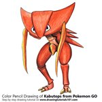 How to Draw Kabutops from Pokemon GO