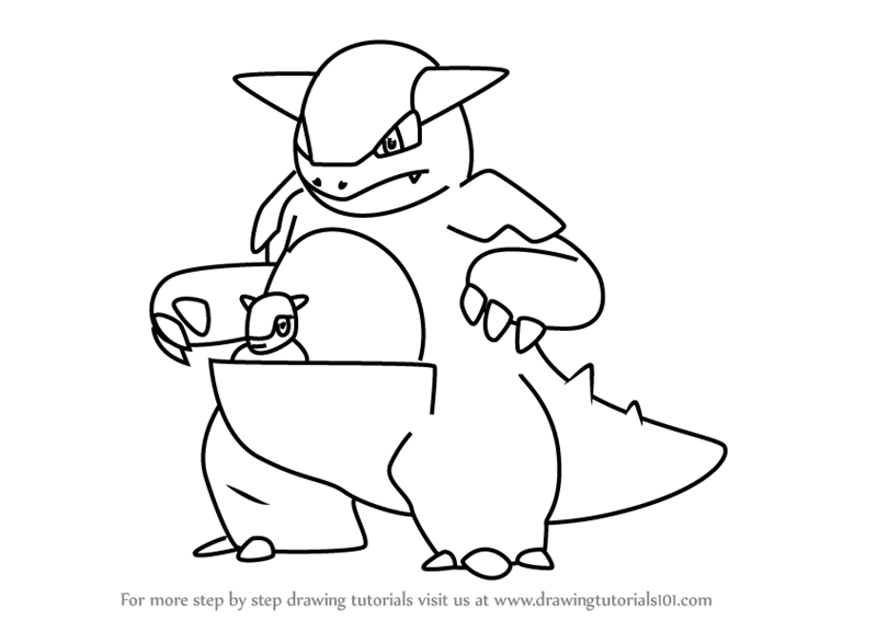 85 Kangaskhan Pokemon Coloring Page