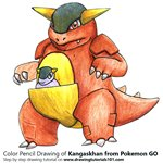 How to Draw Kangaskhan from Pokemon GO