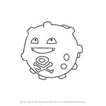 How to Draw Koffing from Pokemon GO