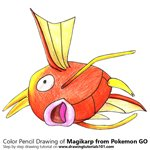 How to Draw Magikarp from Pokemon GO