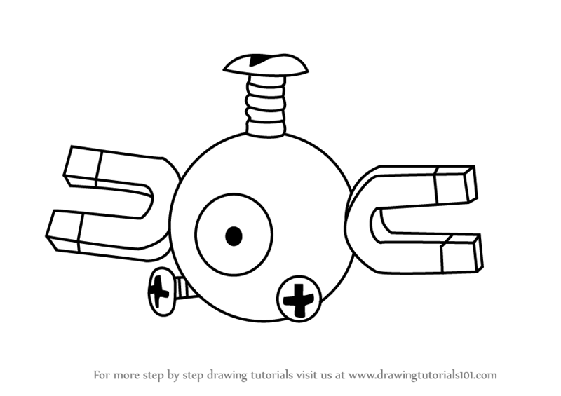 pokemon magneton coloring pages - photo#9
