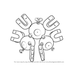 How to Draw Magneton from Pokemon GO