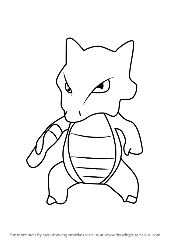 alolan marowak coloring pages | Learn How to Draw Marowak from Pokemon GO (Pokemon GO ...