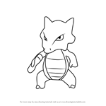 How to Draw Marowak from Pokemon GO