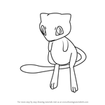How to Draw Mew from Pokemon GO