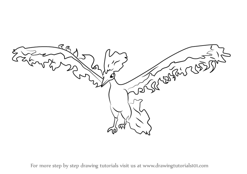 Learn how to draw moltres from pokemon go pokemon go for Moltres coloring pages