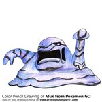 How to Draw Muk from Pokemon GO