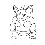 How to Draw Nidoqueen from Pokemon GO