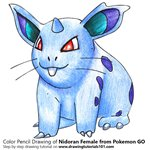 How to Draw Nidoran Female from Pokemon GO