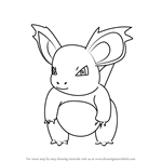 How to Draw Nidorina from Pokemon GO