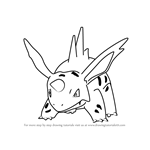 How to Draw Nidorino from Pokemon GO
