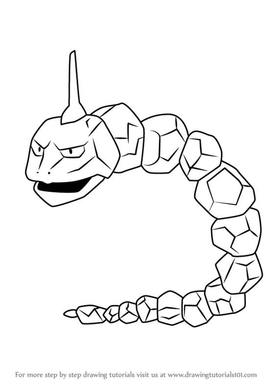 Learn How to Draw Onix from Pokemon