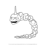 How to Draw Onix from Pokemon GO