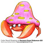 How to Draw Parasect from Pokemon GO