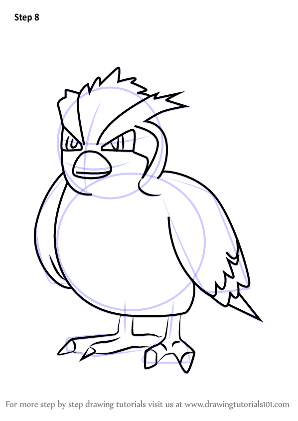 Step by step how to draw pidgey from pokemon go for Pidgey coloring page