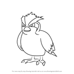 How to Draw Pidgey from Pokemon GO