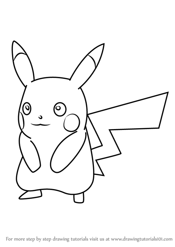 Learn how to draw pikachu from pokemon go pokemon go step by step drawing tutorials