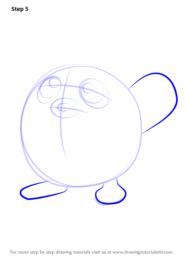 how to draw poliwag step by step