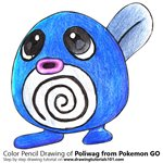 How to Draw Poliwag from Pokemon GO