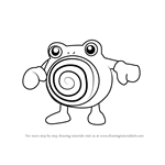 How to Draw Poliwhirl from Pokemon GO