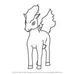How to Draw Ponyta from Pokemon GO
