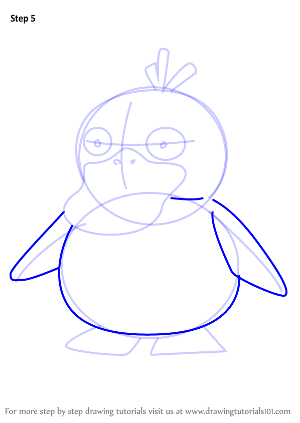 Step By Step How To Draw Psyduck From Pokemon Go