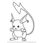 How to Draw Raichu from Pokemon GO