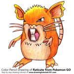 How to Draw Raticate from Pokemon GO
