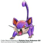 How to Draw Rattata from Pokemon GO