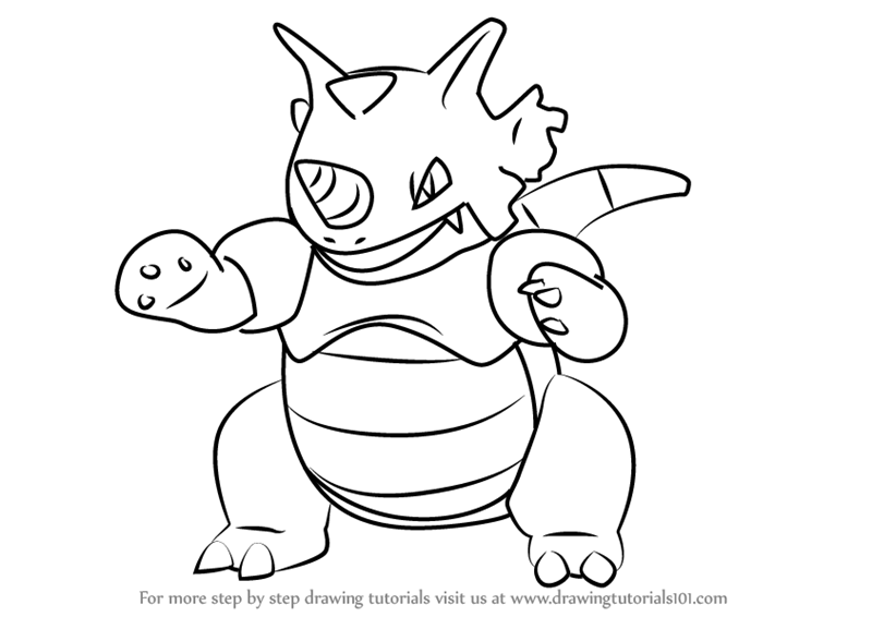 Learn How to Draw Rhydon from Pokemon GO Pokemon GO Step
