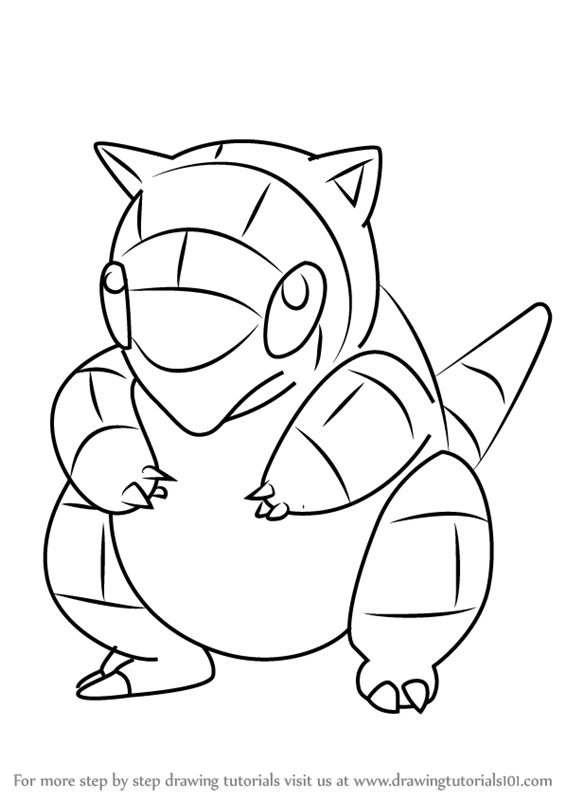 pokemon sandshrew coloring pages-#25