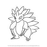 How to Draw Sandslash from Pokemon GO