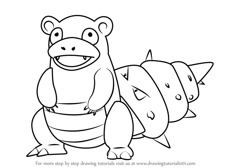 Learn How to Draw Slowbro from
