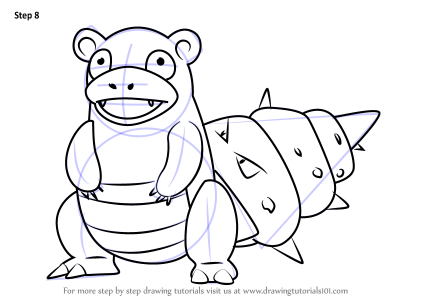 Learn How To Draw Slowbro From Pokemon Go Pokemon Go