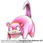 How to Draw Slowpoke from Pokemon GO