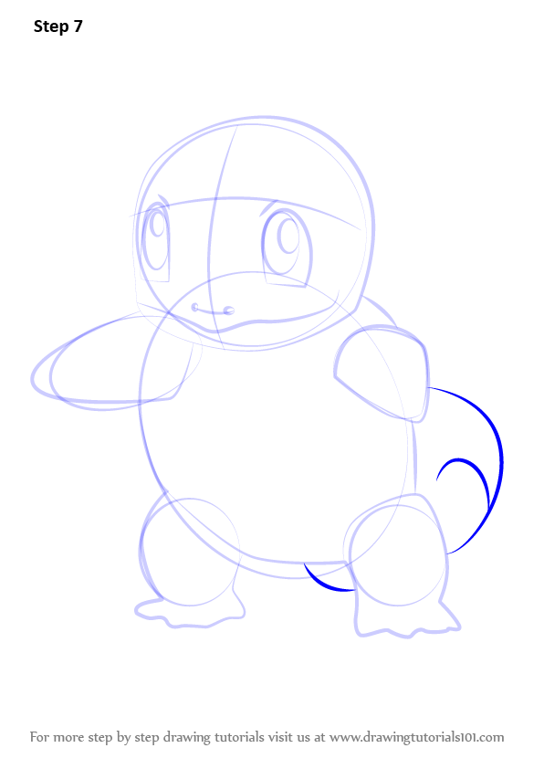 Step By Step How To Draw Squirtle From Pokemon Go