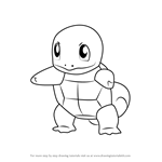 How to Draw Squirtle from Pokemon GO