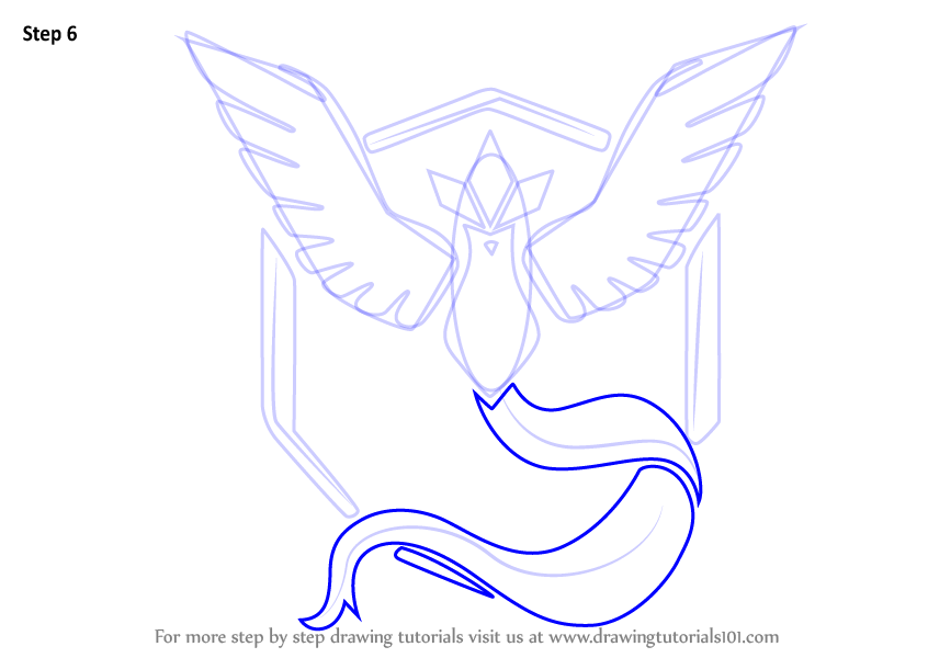 Step By Step How To Draw Team Mystic From Pokemon Go