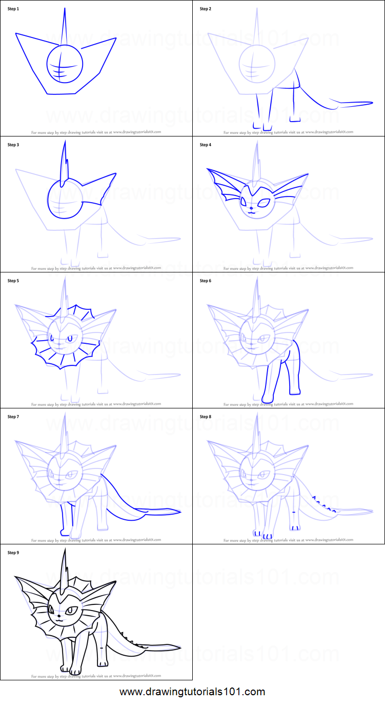 Uncategorized How To Draw Vaporeon how to draw vaporeon from pokemon go printable step by drawing sheet drawingtutorials101 com