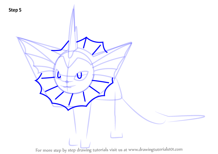 Clefable Learn How to Draw Vapo...