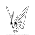 How to Draw Venomoth from Pokemon GO