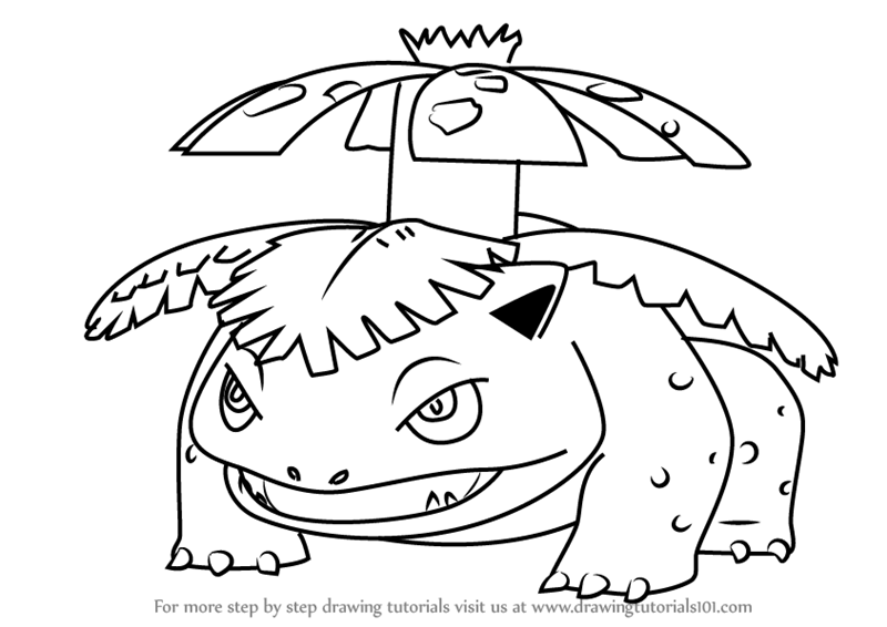 Step by Step How to Draw Venusaur from Pokemon GO ...