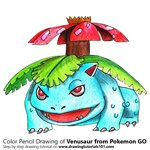 How to Draw Venusaur from Pokemon GO