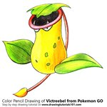 How to Draw Victreebel from Pokemon GO