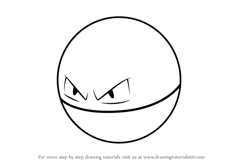 Learn How To Draw Voltorb From Pokemon GO Step By Drawing Tutorials