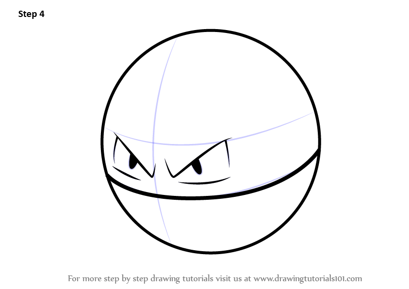 Learn how to draw voltorb from pokemon go pokemon go for Easy but cool things to draw