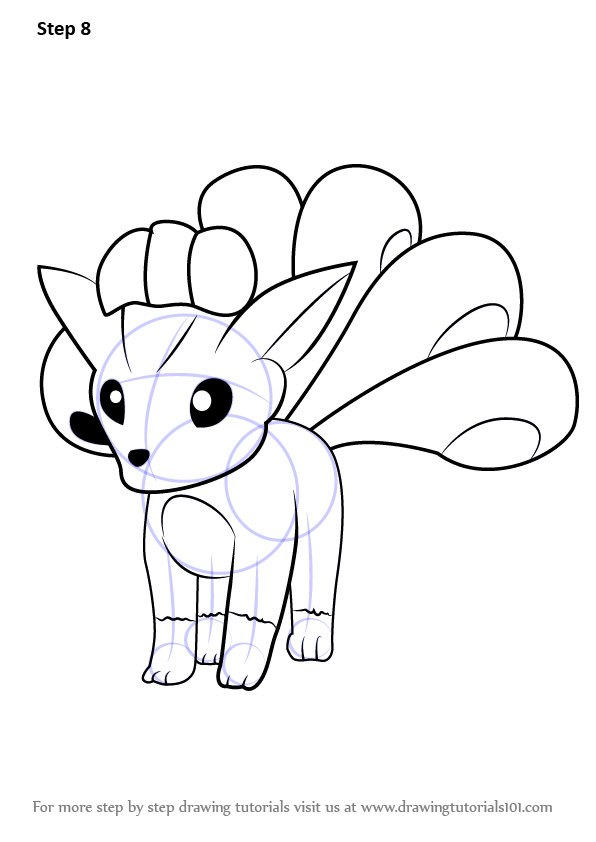 Learn How To Draw Vulpix From Pokemon Go Pokemon Go Step